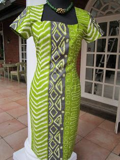 Shift dress in classic style....Green (not the loud kind!), beige and charcoal Woodin fabric. Lined with matching green silk. $160-180 ...