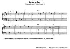 Printable Piano Lesson Book: Piano Lesson Two