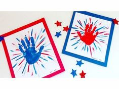 C is for Crafts: Handprint Fireworks Gather up the kids for this simple patriotic handprint art project. Makes a great of July craft! 4th July Crafts, Fourth Of July Crafts For Kids, Patriotic Crafts, Daycare Crafts, Baby Crafts, Daycare Rooms, Classroom Crafts, Kids Rooms, Toddler Art