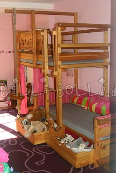 Das Etagenbett Seitlich Versetzt Kombiniert Die Spielhöhle Des Hochbettes  Mit Zwei Schlafmöglichkeiten. Mit Den Gleichen Vorteilen Wie Das ...