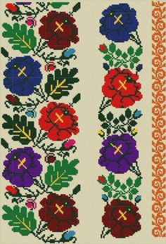 Russian Embroidery, Embroidery Motifs, Embroidery Patterns Free, Cross Stitch Embroidery, Cross Stitch Art, Cross Stitch Borders, Cross Stitching, Cross Stitch Patterns, Embroidery Techniques