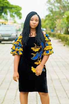 Trendiest Ankara Styles For This Season - Sisi Couture Trendy Outfits, Cool Outfits, African Fashion, Ankara Fashion, Trendy Ankara Styles, Ankara Designs, Black Velvet Dress, Jeans Style, Short Dresses