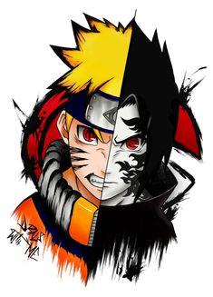 Naruto Vs Sasuke, Naruto Shippuden Sasuke, Naruto Art, Anime Naruto, Boruto, Anime Guys, Anime Tatoo, Ronin Samurai, I Ninja