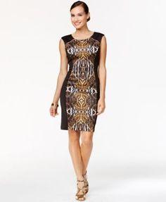Thalia Sodi Ikat-Print Sheath Dress