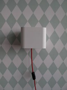 just bought two of these. The red cord is brilliant against a white wall.
