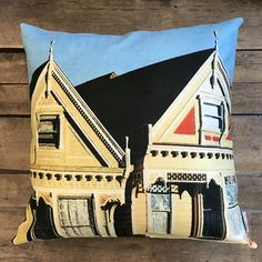 """Painted Ladies"" / San Francisco by Taiga Colors Holidays In Finland, Painted Ladies, Woman Painting, San Francisco, Throw Pillows, Colors, Pattern, Design, Toss Pillows"