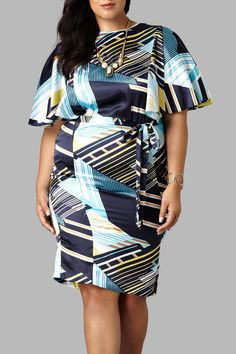 99f01b1fe999ff Yona New York Bat Wing Printed Dress - Main Image Casual Plus Size Outfits