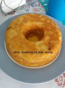 PUDIM DE PÃO COM KEFIR DE LEITE Kefir Recipes, Bagel, Doughnut, Pineapple, Bread, Fruit, Desserts, Food, Bundt Cakes