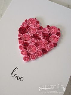 Quilling idea for beginners Quiling Paper Art, Paper Quilling Cards, Paper Quilling Patterns, Paper Quilling Jewelry, Quilling Craft, Quilling Comb, Neli Quilling, Diy Birthday Card For Boyfriend, Valentine Cards For Boyfriend