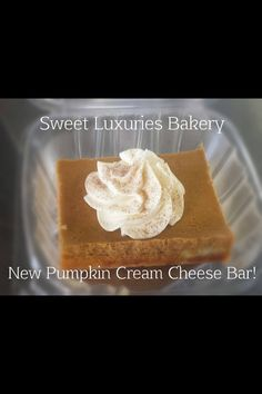 Perfect Pumpkin Cream Cheese Bars, just in time for fall.