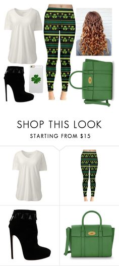 """Happy St. Patrick's Day!!"" by vanillabean224 ❤ liked on Polyvore featuring Lands' End, Alaïa, Mulberry, Incipio and plus size clothing"