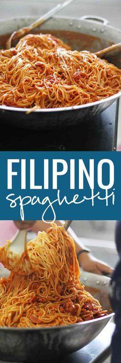 Authentic Filipino Spaghetti   pinchofyum.com