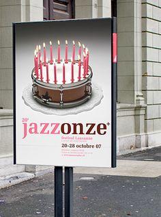 JAZZ 11+ posters by Nicolas Zentner, via Behance