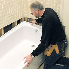 DIY Bathtub Installation | ... Bathtub - How to Repair or Replace a Bath Tub - DIY Plumbing. DIY