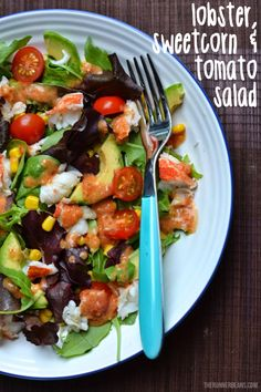 Lobster, Sweetcorn and Tomato Salad - The Runner Beans Sweetcorn Fritters Recipe, Quick Healthy Meals, Good Healthy Recipes, Healthy Breakfasts, Healthy Summer, Healthy Salads, Curry Recipes, Salad Recipes
