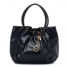 1231545f39 Michael Kors Smooth Outlook Logo Medium Black Drawstring Bags Handbags Michael  Kors