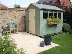 One of Tigers finest, our Shiplap Apex shed is carefully made using selected European woods and superior grade tongue and groove cladding. shed design shed diy shed ideas shed organization shed plans Painted Garden Sheds, Painted Shed, Garden Sheds Uk, Petits Hangars, Allotment Shed, Le Hangar, Shed Makeover, Gardens, Houses