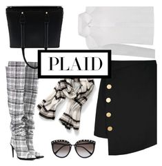 """""""Plaid Work Wear"""" by groove-muffin ❤ liked on Polyvore featuring Off-White and La Perla"""