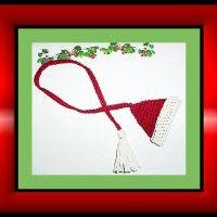 Santa Hat Bookmark | Crochet Free Pattern
