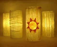 Filzlampen, Felted lamps by Helena Hermann