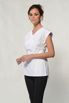 Details about new beauty spa salon beautician tunic nail for Uniform massage spa