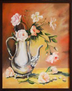 static nature,oil  painting on canvas ,  author :Cojocaru Cristina