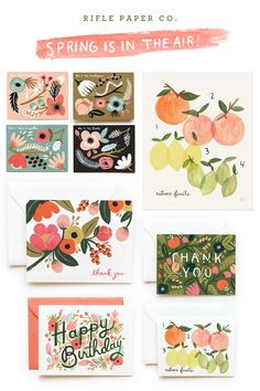i am officially in LURVE with rifle paper co.'s stationary illustrations. so colorful and whimsical and organic! her color sensibility is impeccable.