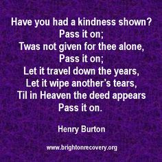 Pass it on - by Henry Burton