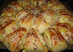 Töltött háromszögek Meat Recipes, Cooking Recipes, Bread Dough Recipe, Good Food, Yummy Food, Hungarian Recipes, Snacks, International Recipes, Food And Drink