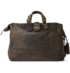 GucciBurnished Crocodile-Embossed Leather Holdall