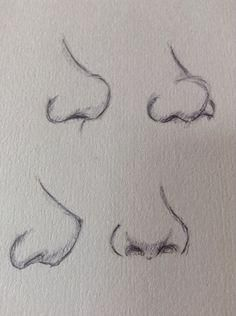 Nose practice, looks a bit dodgy XD More | Drawing Tips, Nose Drawing, Drawing Ideas, Sketch Ideas, New Ideas, Deep Space Sparkle, People Drawings, Teaching Art, Sketchbook Ideas