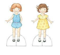 Paper Dolls - Tamsin Ainslie Illustration