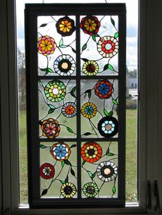 stained glass  I would love to make this.  b