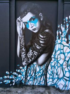 Beautiful Muse Painted by Fin DAC in West London (10 pictures)