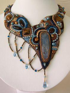 Bead embroidered collar. Nice asymmetrical design.