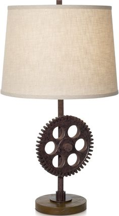 Pacific Coast Lighting Industrial Gear Table Lamp By Pacific Coast Lighting