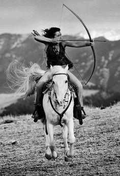 Bow | arrow | horse | archery | girl