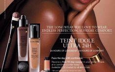 Lancôme Advertising Campaign With Lupita Nyong'o #Lancôme, #LupitaNyongo, #beauty