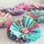Ruffle Bloom using rare designer fabrics - by oopsidaisi on madeit