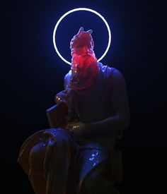 vaporwave sculpture Subsurface on Behance Cyberpunk Kunst, Vaporwave Wallpaper, Vaporwave Art, Neon Aesthetic, Glitch Art, Arte Pop, Classical Art, Grafik Design, Illustrations And Posters