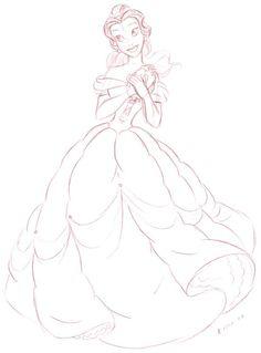Belle sketch ✤ || CHARACTER DESIGN REFERENCES | キャラクターデザイン | çizgi film •