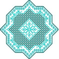 Hardanger Snowflake free embroidery design 1. Machine embroidery design. www.embroideres.com