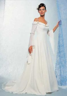chiffon wedding gowns with sleeves | New White/Ivory butterfly ...