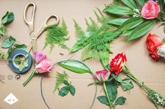 Head bouquet DIY http://www.blogsomewhere.co.il/