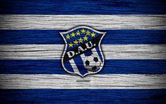 Download wallpapers Arabe Unido FC, 4k, LPF, soccer, Liga Panamena, logo, football club, Panama, CD Arabe Unido, wooden texture, FC Arabe Unido