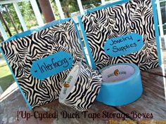 Duct Tape Storage Boxes
