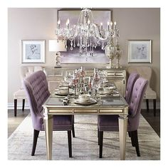 Purple Dining Room Table Small Dining Rooms Images Tags Small Dining Rooms Purple Dining Purple Dining Chairs Small Dining Rooms Chair Inspirational Purple Dining Purple Dining Room Table And Chairs Elegant Dining Room, Dining Room Design, Dining Room Table, Dining Rooms, Dining Sets, Console Table, Dining Chairs, Black And White Dining Room, Dining Room Inspiration