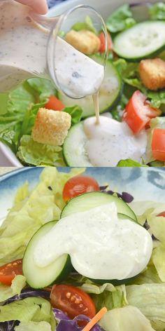 Greek Yogurt Salad Dressing, Yogurt Salad Dressings, Creamy Salad Dressing, Creamy Greek Dressing Recipe, Greek Yogurt Ranch, Greek Yogurt Chicken, Lemon Dressing Recipes, Greek Salad Recipes, Greek Yogurt Recipes
