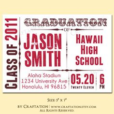 graduation announcement idea