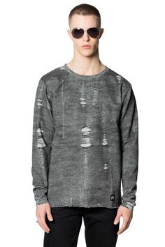 Pipe Trompe l'oeil Sweat | Sweatshirts | CheapMonday.com - Print: Trompe l'oeil- AW 2015